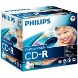 Philips CD-R 700MB-80min  Jewelcase, 52x, printabil, PHILIPS