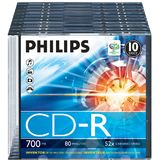 Philips CD-R 700MB-80min  Slimcase, 52x, PHILIPS